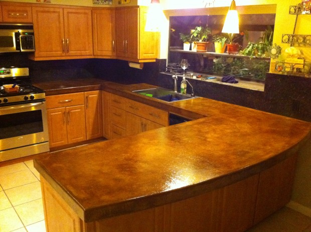 Palm Desert Concrete Counter Top